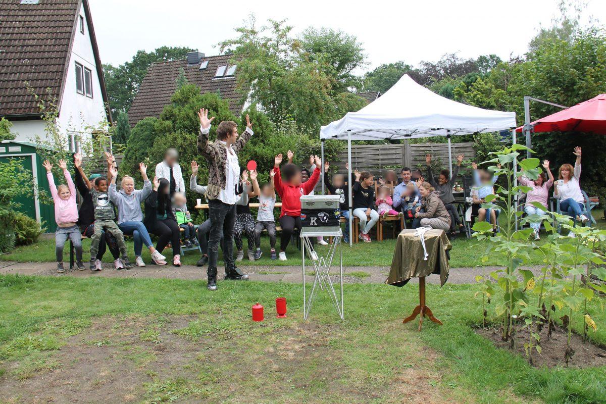Ein Sommerfest für die Kinder der Wohngruppe
